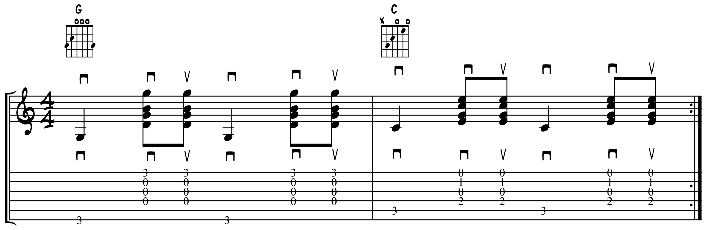 Eighth Note Base Note Strum