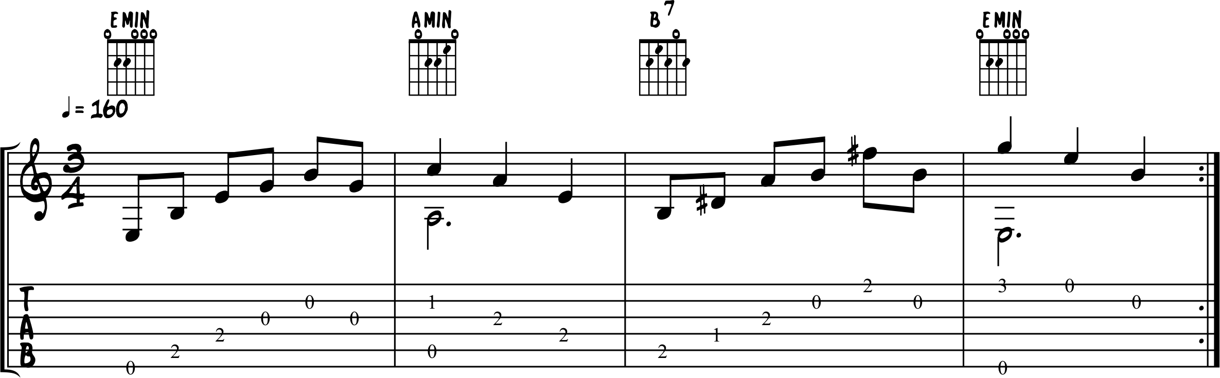 Fingerpicking Song Exercise