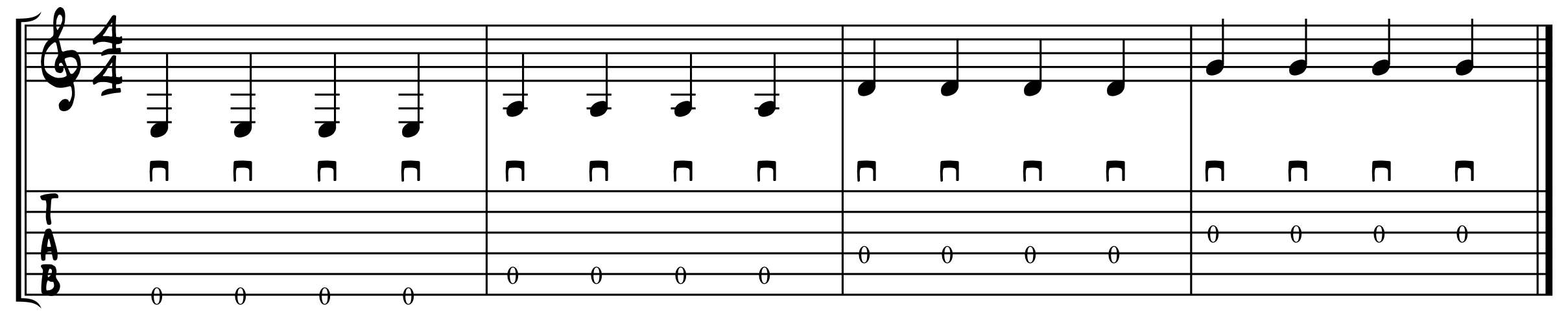 Open String Picking Excercise